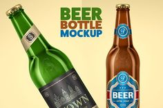 Beer Bottle Mock-Up by freebird on @creativemarket