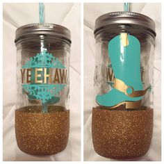 Hey, I found this really awesome Etsy listing at https://www.etsy.com/listing/234551594/yeehaw-gold-glitter-dipped-tumbler