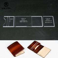 Clear Acrylic Pattern Leathercraft tool  card case template   #wuta