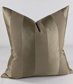 Villa Nova Valleta Stripe Cushion Cover Natural Beige Brown - 18x18