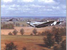 RAF Supermarine Spitfire vs V1