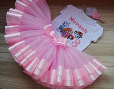 Paw Patrol Skye Tutu Outfit Birthday Tutu Set for baby, pink Paw Patrol Birthday Outfit Personalized Skye Everest and Marshall tutu set Baby Girl Birthday Outfit, Birthday Tutu, Paw Patrol Birthday Girl, Different Shades Of Pink, Tutu Outfits, Baby Tutu, Pink Tulle, Handmade Dresses, Special Birthday