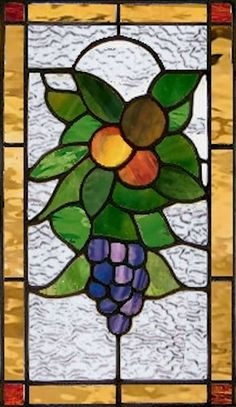 Fruit - Stained Glass Window Panel on Etsy, $286.00