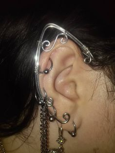 Customize These Silver Filigree Elf Ear Cuffs!