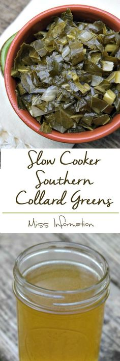 Make these yummy, full of flavor, slow cooker collard greens in your crockpot. It's an amazing side dish and save the potlikker for your cornbread