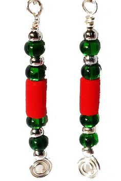 Tall Christmas Crackers drop earrings