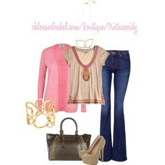 These #gold pieces from #chloeandisabel accent the bling in this pretty outfit. www.chloeandisabel.com/boutique/tristacassidy