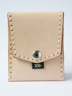 Natural with Maroon Hand Lettering (Pocket Wallet)