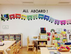 last year's welcome board. all aboard the class train! kiddos loved it.