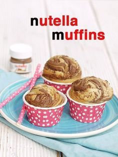 Nutella muffins - no classic Easter recipe with eggs, carrots or bunny . - kochen&backen - Best Ever Muffins Recipes Easter Recipes, Egg Recipes, Cookie Recipes, Dessert Recipes, Muffin Nutella, Nutella Muffins, Nutella Cupcakes, Food Cakes, Pizza Muffins