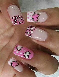 Corazon Rosadas Francés Fancy Nails, Pink Nails, Cute Nails, Pretty Nails, Fabulous Nails, Perfect Nails, Gorgeous Nails, Valentine Nail Art, Holiday Nail Art