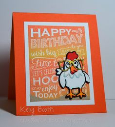 Kelly Booth using the Pop it Ups Cheepers the Chicken and Props1 dies by Karen Burniston for Elizabeth Craft Designs. - Lovin The Life I Color: Cheepers the Chick!