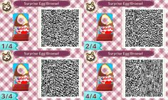 Ü-Ei - Überraschungsei - Surprise Egg - Ei - Ostern - Easter - Fotowand - Bilderwand - faceboard - photo stand - Animal Crossing New Leaf - ACNL - QR - Broesel