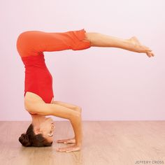 Transition from Tripod Headstand to Crane Pose. Learn how: www.yogajournal.com/practice/2886