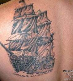 I like the concept of this one. Its really hard for me to find a ship tattoo I like the most. I would absolutely love to have the Queen Annes Revenge