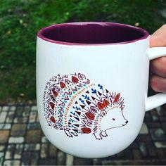 Coffee Mugs - Caribou Coffee Hedgehog Mug