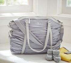 Style meets carry-all! Gray Sydnee Nappy Bag | Pottery Barn Kids Australia