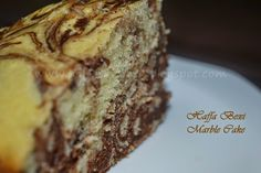 Chocolate Marble Cake recipe - http://haffaskitchen.blogspot.com/2014/10/chocolate-marble-cake-birthday-special.html