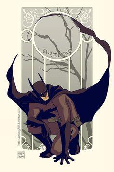 Batman - Art Nouveau by iamacoyfish