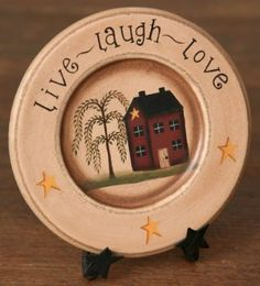 Amazon.com: Live, Laugh, Love - Wooden Decorative Plate: Home & Kitchen