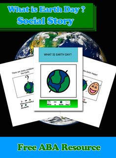 In honour of Earth Day, April 22, Able2learn offers this free visual story book to help explain what is Earth Day. There are many great ideas that can be discussed and expanded. #Aba #Resources #Autism #LifeSkills #SpecialNeeds #ABAresources #AutismEducation ##SocialStory #EarthDay #AdaptedBook