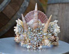 Mermaid crown - wedding - siren - photoshoot - pageant - - bridal - runway - mermaid costume - fantasy - cosplay - fashion. READY TO SHIP