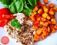 Healthy Dinner: Baked Sweet Potato & Honey Turkey - Индейка со сладким к...