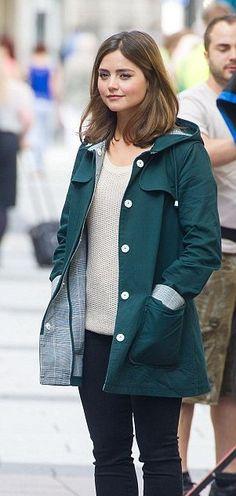 46d1e57e29 Doctor Who Clara Oswald Hooded Green Cotton Coat Clara Oswald Outfits