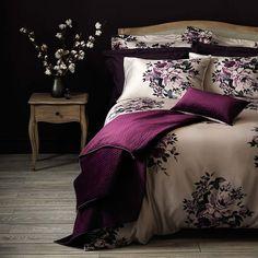 Purple Master Bedroom, Purple Bedroom Design, Burgundy Bedroom, Purple Bedrooms, Maroon Bedroom, Guest Bedrooms, Dream Bedroom, Bedroom Color Schemes, Bedroom Colors