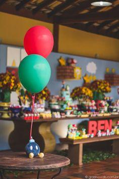 Supermario Mariobros Themedparty Festa Aniversario Party Inspiracao Inspiration Blue Red Green Yellow