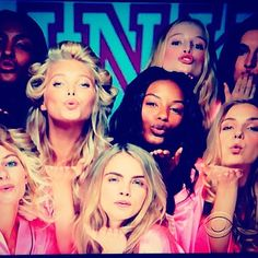 My new drinking game for the #VSFashionShow, every time you see a kiss blown, take a drink. 😘 Kisses! XOXO