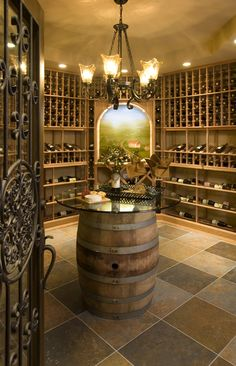 Wine Cellar - Aberdeen Finished Basement - King's Court Builders Naperville, IL
