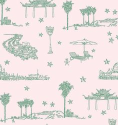Best coast wallpaper-brand new at walnut wallpaper. Iconic Los Angeles images.