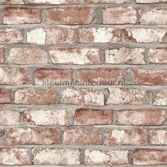 Stenen muur behang EW3102 uit de collectie Exposed Warehouse van Dutch Wallcoverings online bestellen bij kleurmijninterieur