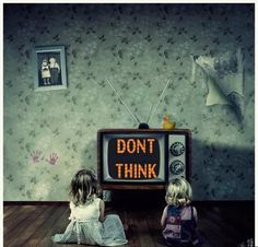 """Remember this when you sit your kids in front of the TV to """"keep them out of trouble""""... at least when they are getting into mischief they are creatively using their brain, I'd rather have that than a zombie TV child any day."""