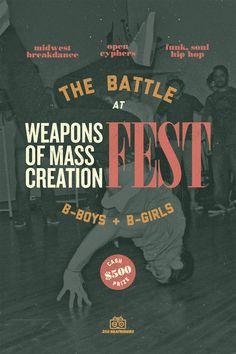 2 vs 2 B-Boy Battle taking place at WMC Fest 2012. $500 Cash Prize!