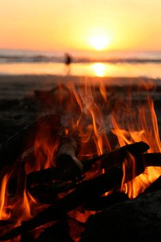 fire on the beach