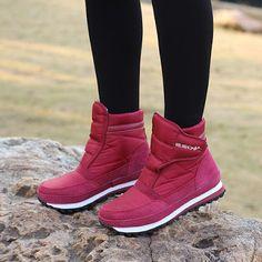 81742b850 MARKETEER: ماء هوك حلقة منصة أحذية الثلوج الدافئة Warm Snow Boots, Snow  Boots Women