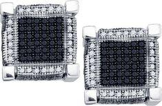 1 CTW-Diamond MICRO-PAVE EARRINGS