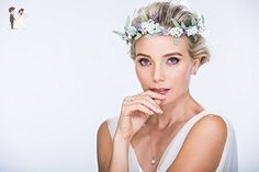 Lilac and White Bridal Crown, Floral Headband, Woodland Head Wreath, Flower Girl Halo - Greenery weddings (*Amazon Partner-Link)