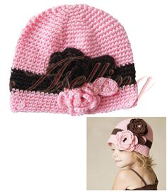 Baby Girl Toddler Cute Handmade Flower Knit Crochet Beanie Hat Cap Headband Gift   eBay