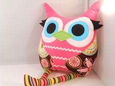 Owl plush pillow toy
