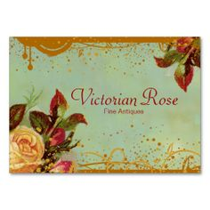 Victorian Rose Elegant Business Cards. Make your own business card with this great design. All you need is to add your info to this template. Click the image to try it out!