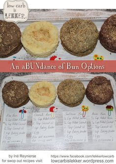 Bun Options LCHF, Low-Carb
