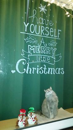 Window painting x-mas christmas. Raam schildering kerst. Have yourself a merry little christmas.