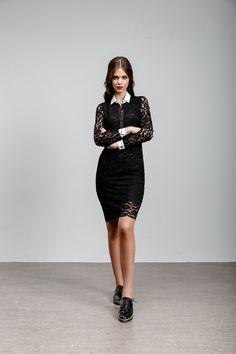 Yellow Cat, High Neck Dress, Dresses, Fashion, Turtleneck Dress, Vestidos, Moda, Fashion Styles, Dress