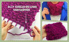No necesitas ni saber tejer ni tener agujas para hacerte un abrigado cuello de lana. Aquí verás que con un cartón puedes crearlo en poco tiempo.