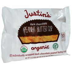 Justin's Nut Butter, Organic Peanut Butter Cups, Dark Chocolate, 10 Wrapped Cups, 0.5 oz (15 g) Each - iHerb.com