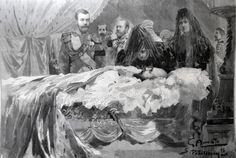Prince Nicholas at funeral of Emperor Alexander III