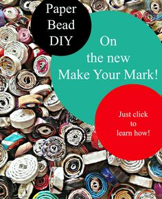 Short paper bead tutorial!  So easy to make and tons of ways to use them.